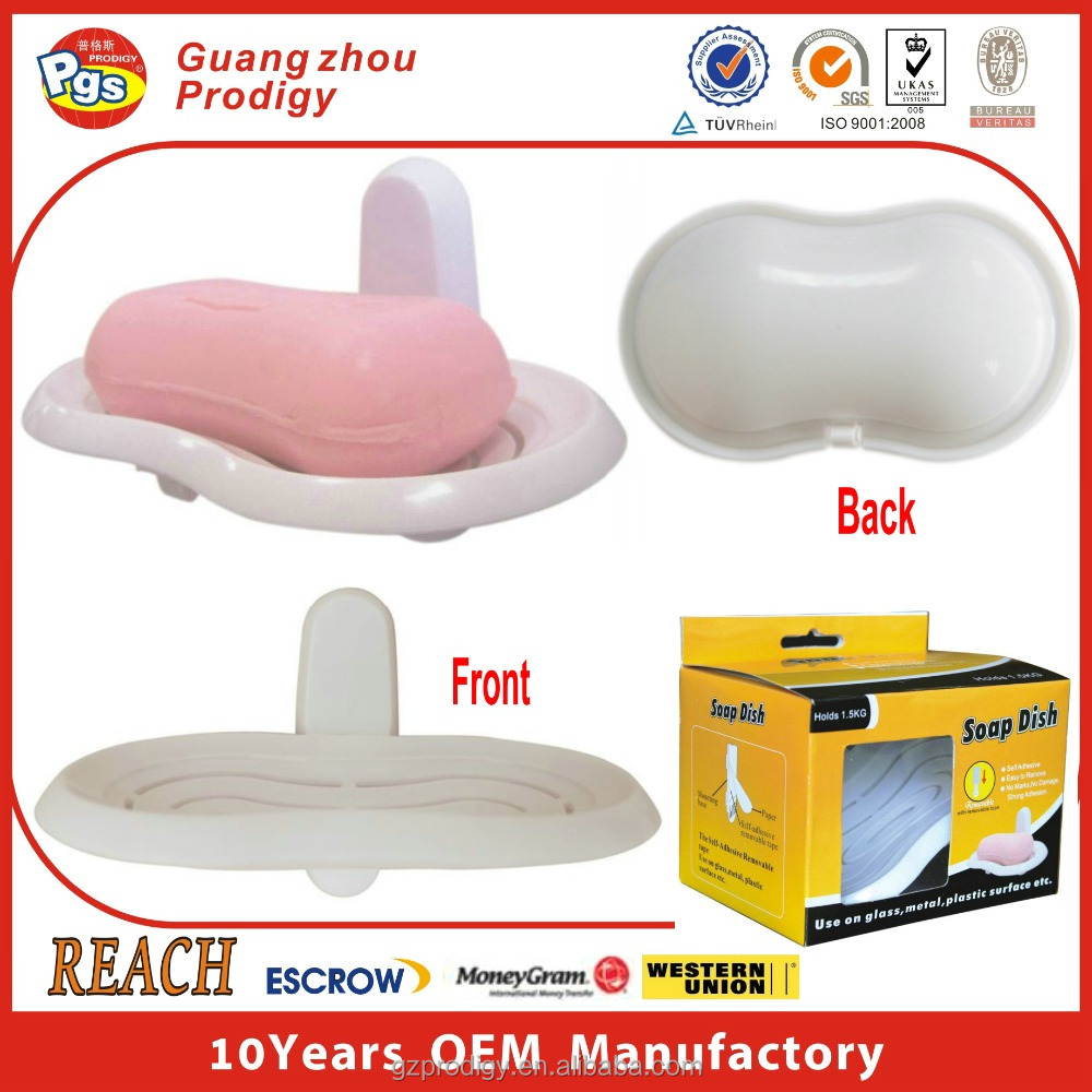 good design Bathroom accessories adhesive plastic soap dish holder