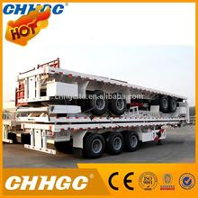 famous brand 3 axle double axles flat bed trailer made in China