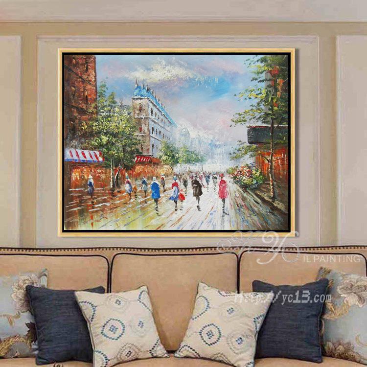 Wall art pictures woonkamer thuis decoratie paris street art canvas schilderijen schilderen - Decoratie themakamer paris ...