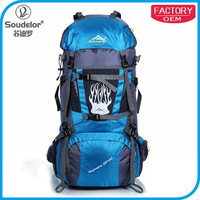 2015 nylon camping backpack hiking bag for young Multi-functional waterproof backpack to travel with large Capacity