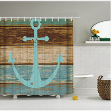 Nautical Sail Boat Art Picture Print For Bathroom Waterproof Shower Curtain