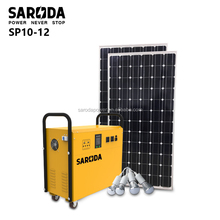 800W off-grid solar power system,Stand-alone PV solar home kits DC AC portable solar electricity generation system