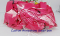 Rhinestone Cheer Bows with Elastic Band for cheerleading team