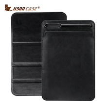 Premium Leather Sleeve Case for iPad Pro 10.5 2017 Pouch Bag Creative Folding Cover with Pencil Slot Holder for iPad case New