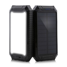 PowerGreen Flood Light Design Solar Mobile Phone Charger 10000mAh Solar Power Bank for Cell Phone