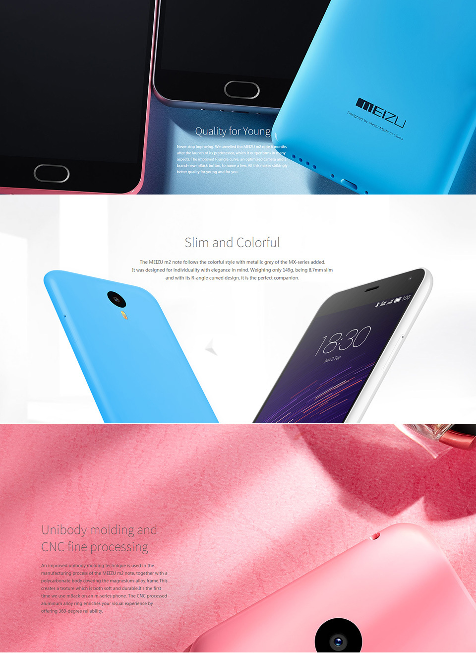 EU Stock, 100% Original Unlocked Wholesale Mobile Phones 16GB Meizu M2 Note Google Nexus 5