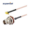 Right angle MMCX male to TNC female bulkhead o-ring Jack Jumper RG58 Antenna cable
