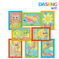 Kids Art and Craft Fun Easy Play sticky mosaic Art Activity Set