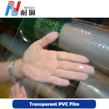 China manufacture soft PVC plastic transparent film in roll or sheet