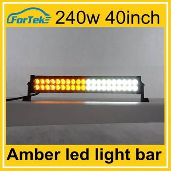 Strobe 240w 40 inch amber led light bar with wireless remote control