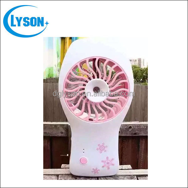 New Design Portable Water Spray USB Rechargeable High Speed Mini Fan