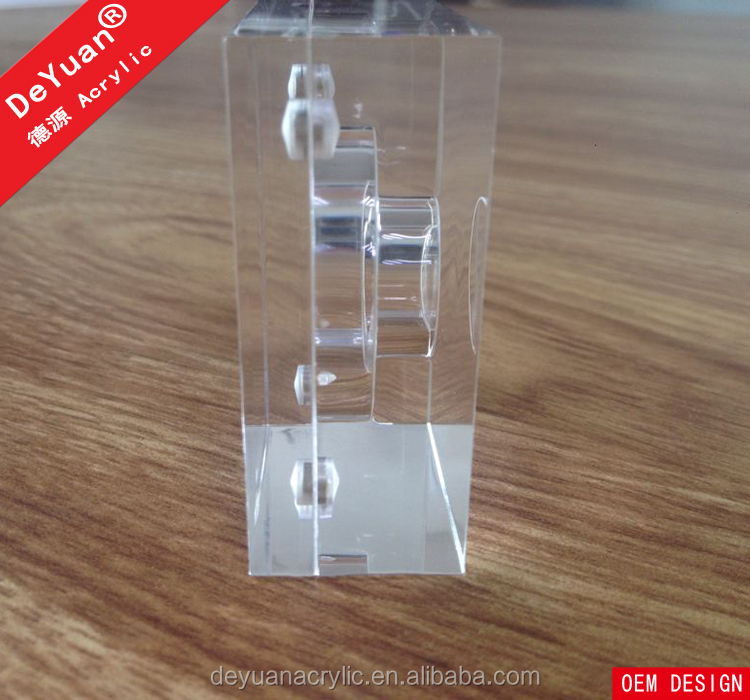 Square Coin Holder Clear Acrylic With Four Magnet