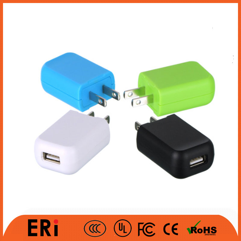 Cell phone accessories accept custom service for color LOGO wall charger with UL certification