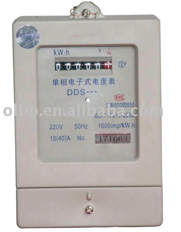 DDS Series Singple phase electrical type KWH meter