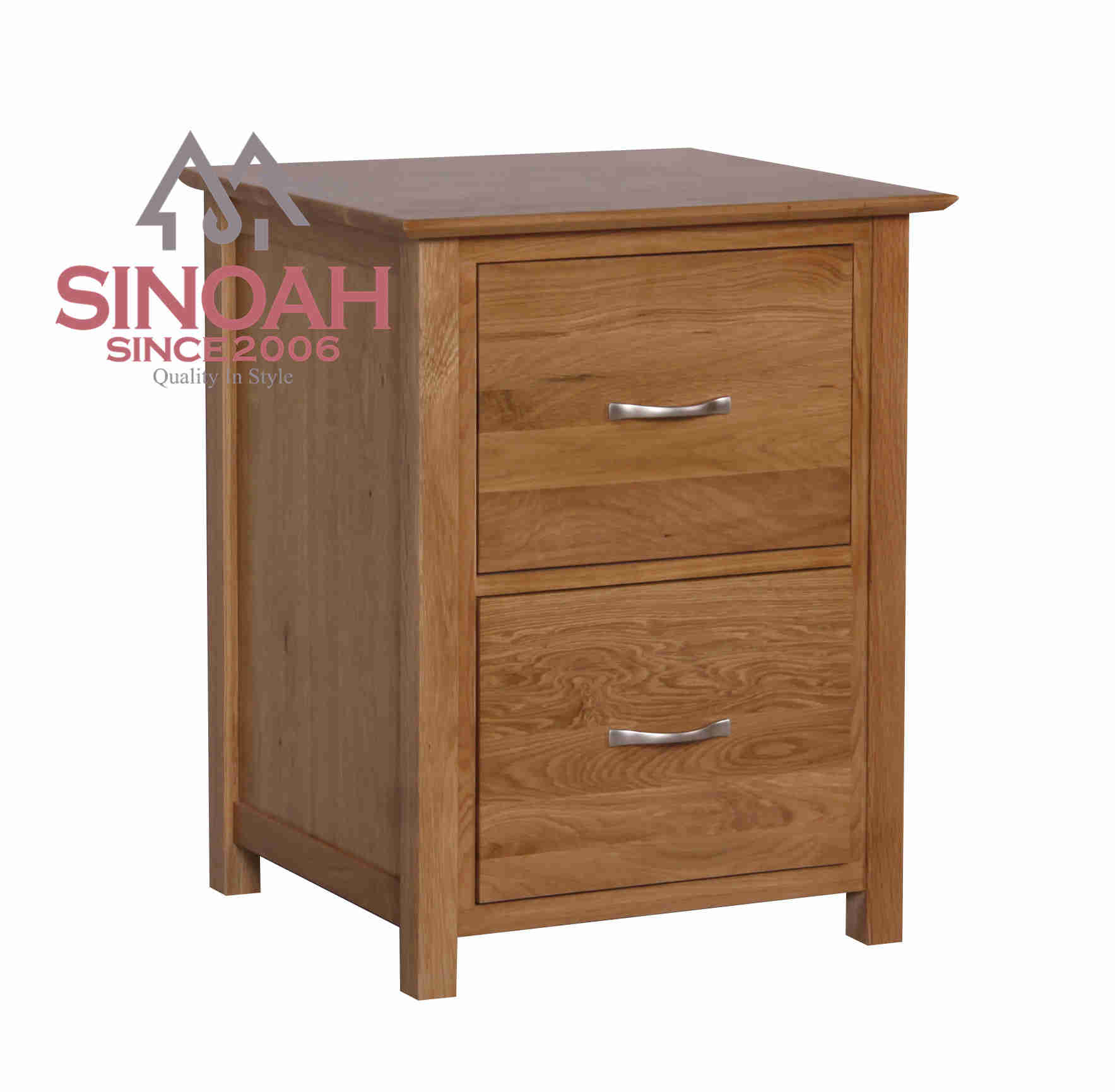 100% solid wood oak office furniture filing cabinet