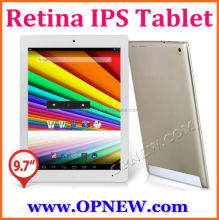 High end 9.7 inch retina ips tablet pc 4G RAM android 4.4 quad core tablet wifi BT 3g hdm micro usb port in stock