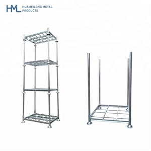 Heavy duty warehouse transport galvanized storage steel metal stacking movable post pallet racks/racking