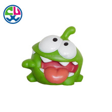 BB sound green rubber Frog PVC Bath Toy for kids