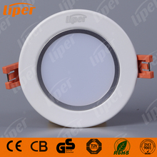 Liper Aluminum recessed Ceiling light Ultra thin round frame home 3w SMD LED Downlight residential lighting with CE CB RoHs