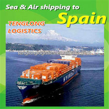 China ports international shipping agency to Barcelona Valencia of Spain from Shenzhen Shanghai Hangzhou