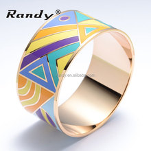 Beautiful Girls Stainless Steel Bracelets Enamel Bangles Jewelry Wholesale
