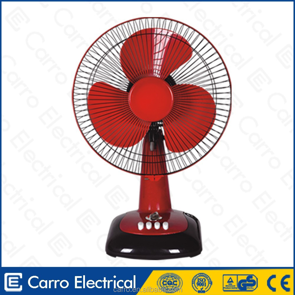 Prime quality popular design table fan specifications DC-12V12G with dc motor
