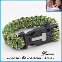 latest style fashion paracord bracelets , survival paracord bracelet , paracord bracelet with beads for making fire