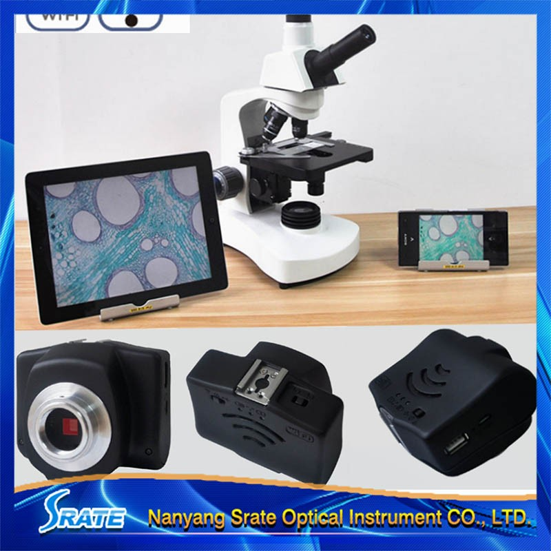 Microscope WIFI 5MP Digital Camera Wireless Video Electronic Eyepiece w/ Adapter
