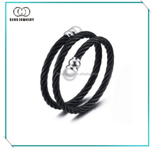 Stainless Steel Twisted Cable Adjustable Cuff Bangle Bracelet
