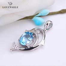 Promotion the last 8 pcs Natural Topaz silve gem jewelry wholesale big stone pendant design