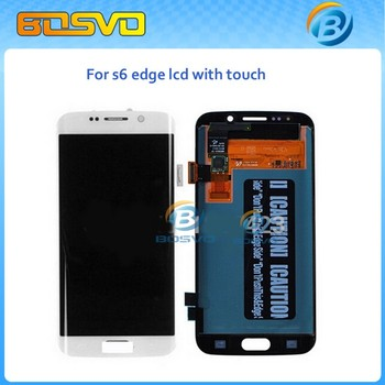 Original refurbished clone lcd digitizer for samsung galaxy s6 edge g9250 white