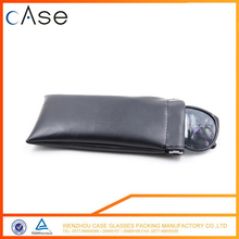 Leather wholesale traveling sunglasses Optical glasses bag/pouch