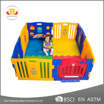Colorful 8 panels baby playpen