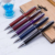 Classical Multi-color Leather Promotion Metal Ball Pen custom logo leather ballpoint pens