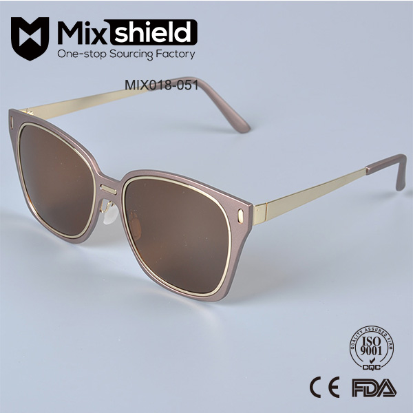 2017 fashion design cat 3. brand mirrored women sunglasses