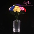satin ribbon roses wedding flower centerpieces