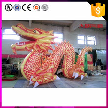 Advertising unique design red and white giant advertising inflatable sea dragon