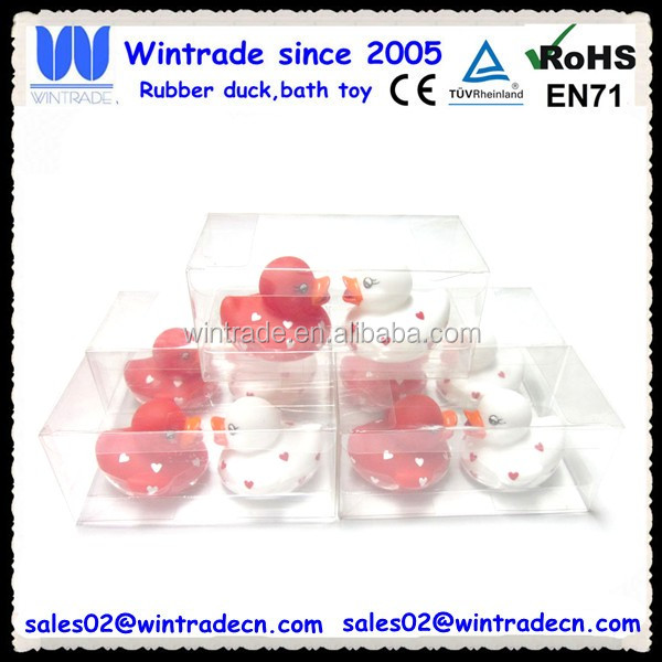 Bulk valentine gift rubber duck toy
