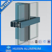 Hot selling different treatment aluminum curtain wall profiles in good price