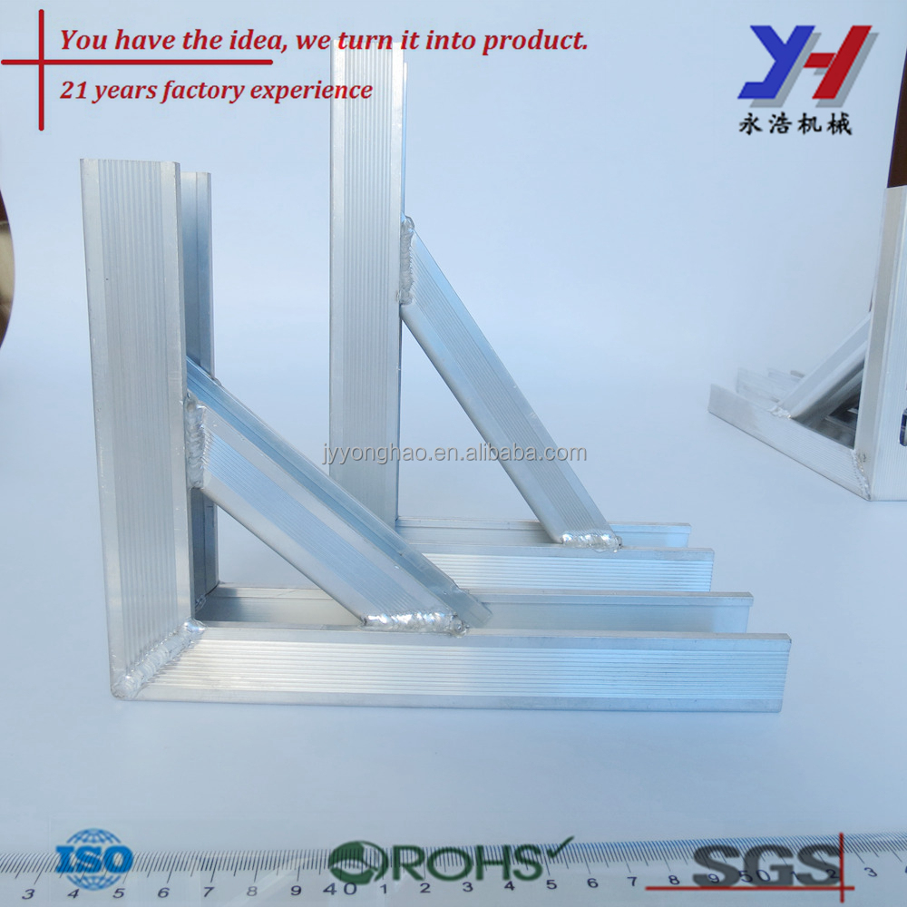 High temp aluminum welding profile, weld aluminum bracket customized, tig welding spare parts
