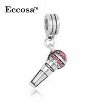 China Wholesale Best Selling Products Handmade crystal Rhinestone Charm microphone Pendant For Jewelry Making