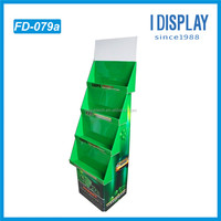 supermarket used mall kiosks customized corrugated paper cardboard floor display stand