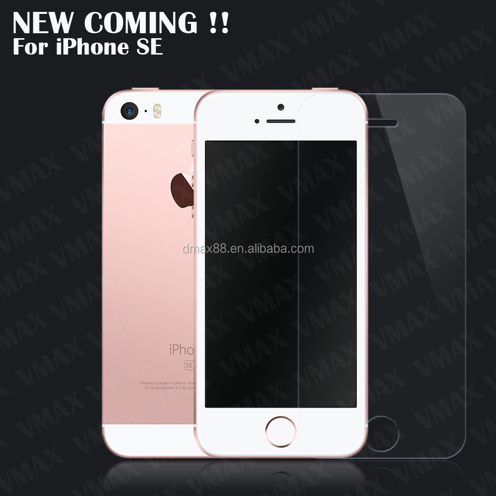 9H Hardness fingerprint resistant explosion proof Tempered Glass Screen Protector For iPhone SE
