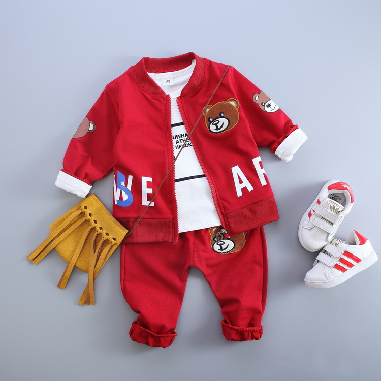 2017 Hot New Product Young Boys Three Pieces Clothing Set High Quality