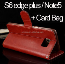 Hot Sale Card Bag Wallet Leather Case For Samsung Galaxy Note 5 Case