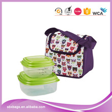 New Design Cotton Canvas Cooler Insulated Kids Lunch Bag