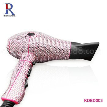 Beauty Colorful Crystal Embellished Full Body Hand Rhinestone Blow Dryer