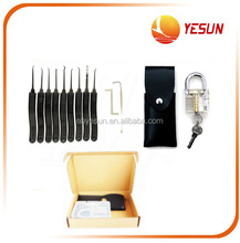 Trainer lock pick tool set Padlock with key