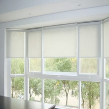 Office Silver Vertical Roller Blinds And Curtains