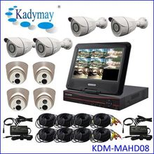 "The complete 1.0mp/1.3mp/2.0mp 8chs waterproof home cctv security camera system, with 10.1"" LCD"